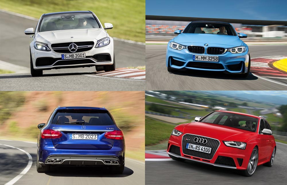 Mercedes-AMG C63 vs BMW M3 vs Audi RS4 - performance - mercedesblog