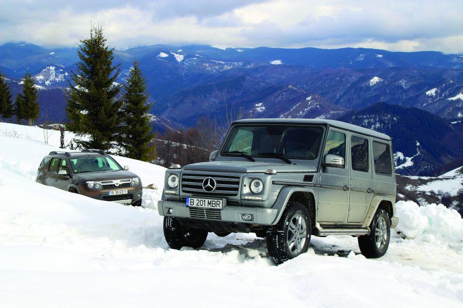 G-Class vs Dacia Duster: Pe urmele regelui