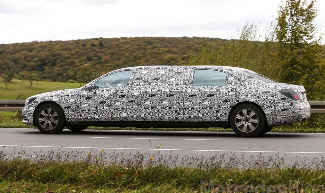 Mercedes-Benz S 600 Pullman spionat pentru prima oară