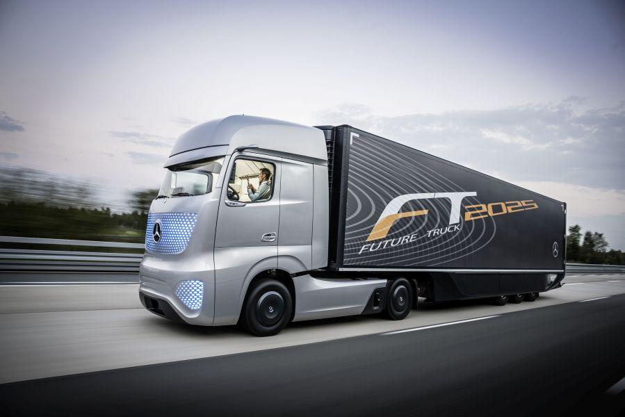Camionul viitorului Mercedes-Benz 2025, în prezent