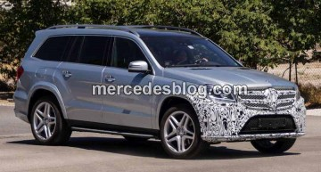 Mercedes GL facelift surprins in SUA