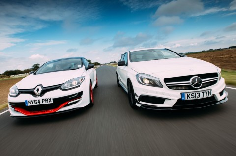 Mercedes-Benz A 45 AMG vs Renault Megane RS Trophy-R