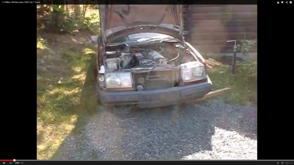 Senzațional: Un 300 Diesel W124 pornește după 7 ani și 1,4 milioane km