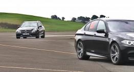 Mercedes E63 AMG versus BMW M5. VIDEO
