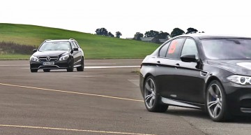 Mercedes E63 AMG versus BMW M5. VIDEO