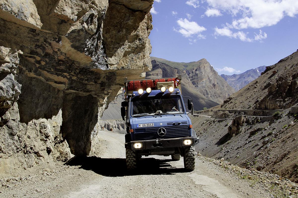 Abenteuerliche Fahrt durch das Spiti Valley in Himachal Pradesh.
