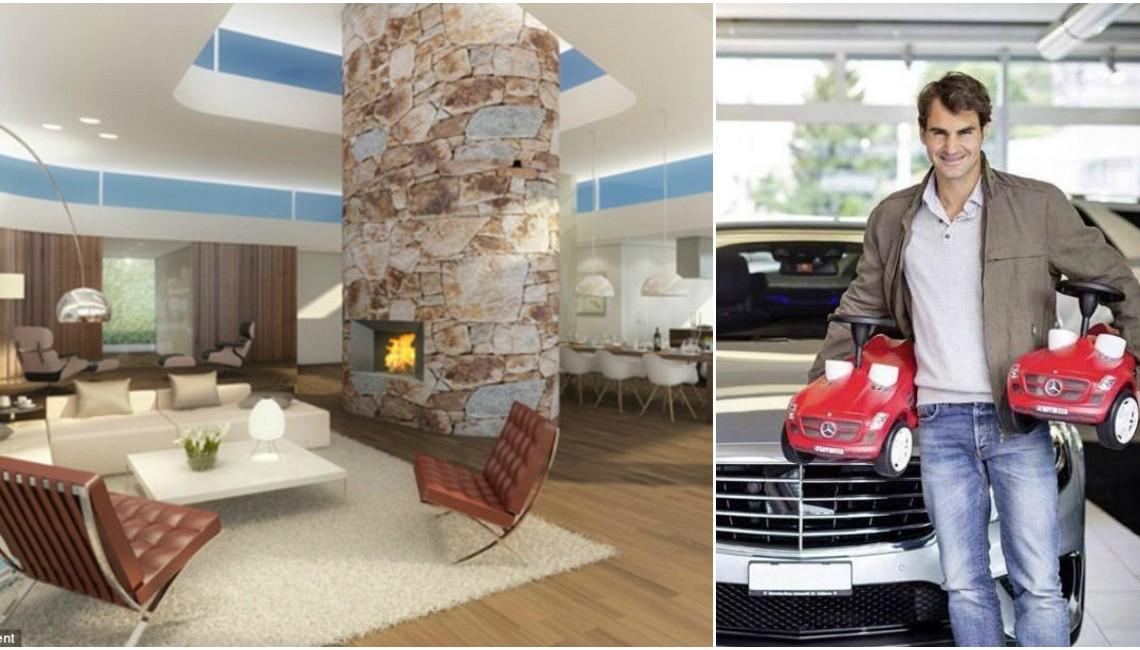 Mini-Mercedes-uri pentru gemeni, casă de sticlă pentru soție