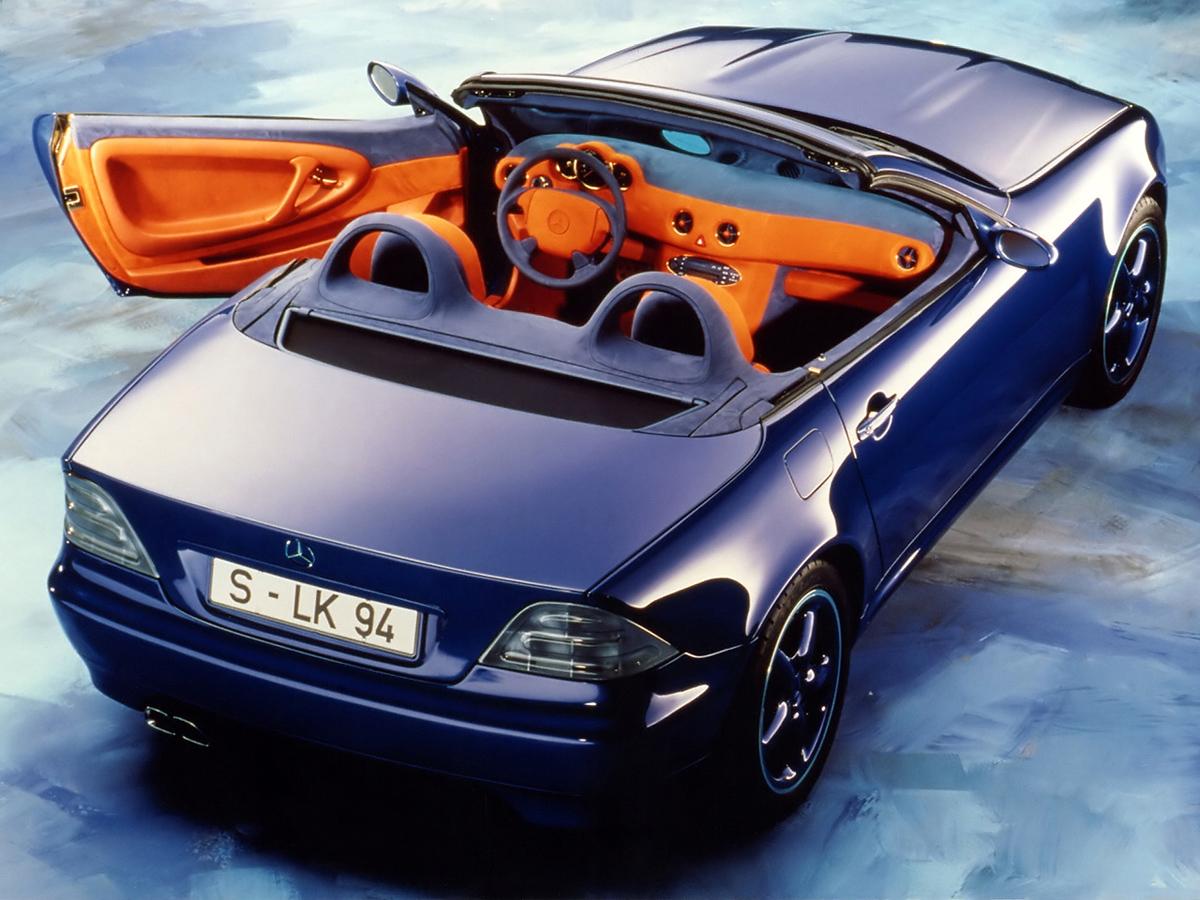 SLK Concept Car II avea un interior mult mai elegant și mai luxos decât  Mark I