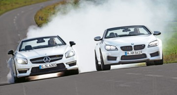 Test comparativ Sport Auto: Mercedes SL 63 AMG vs BMW M6 Cabrio