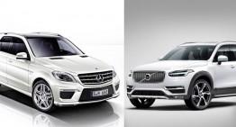 Noul Volvo XC90 vs Mercedes ML: prima comparație statistică