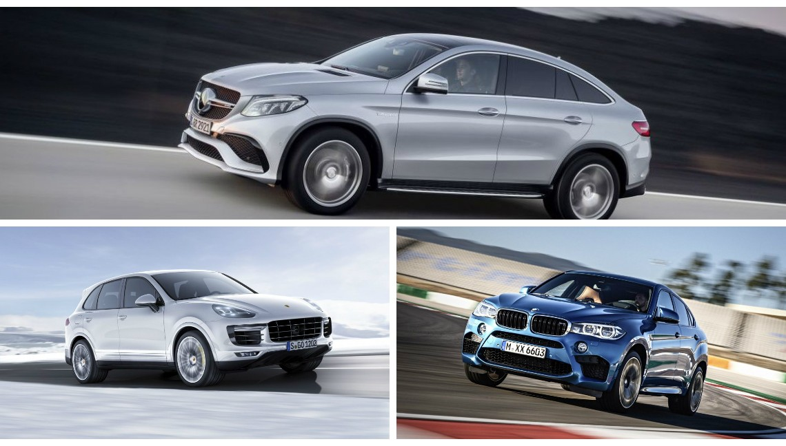 Competiția anului: Mercedes GLE 63 AMG Coupe vs BMW X6M, Porsche Cayenne Turbo S