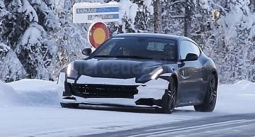 Ferrari FF facelift spionat în timpul testelor de iarnă în Suedia