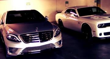 Mercedes S 65 AMG dă piept cu Challenger Hellcat în duelul evacuărilor. VIDEO