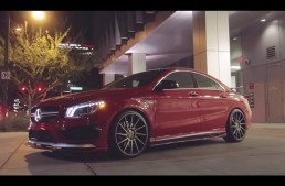 VIDEO: Mercedes CLA45 AMG primește tratamentul Vivid Racing
