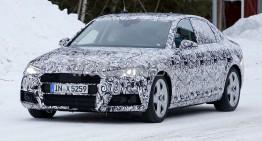 Noul Audi A4 își arată adevărata față: cele mai noi poze spion