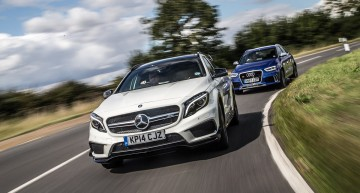 Test Car Magazine: Mercedes-Benz GLA 45 AMG vs. Audi RS Q3
