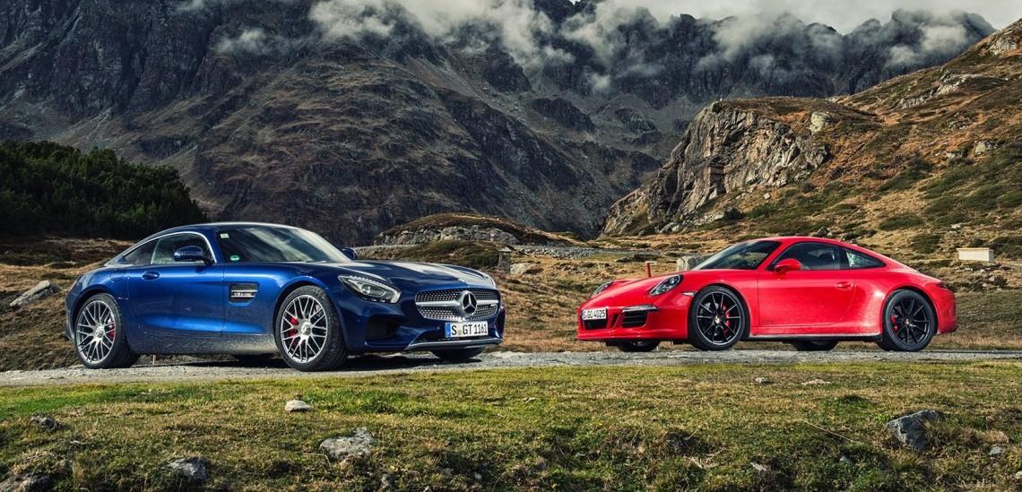 Duelul anului. Primul comparativ Mercedes-AMG GT S – Porsche 911 GTS
