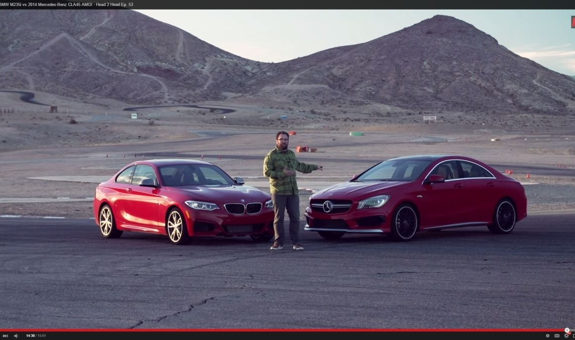 Motor Trend compară Mercedes CLA 45 AMG cu BMW M235i