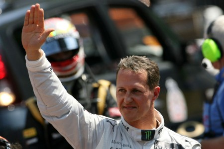 Schumacher waves goodbye
