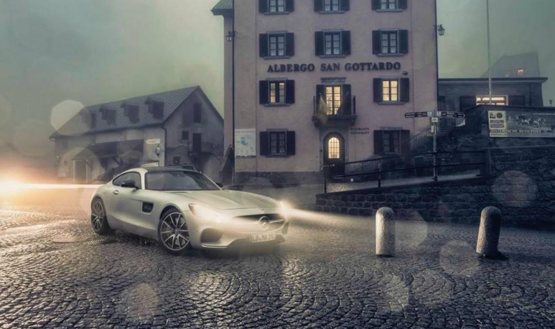 Cursă nocturnă: Tesla Model S P85D vs Mercedes AMG GT S