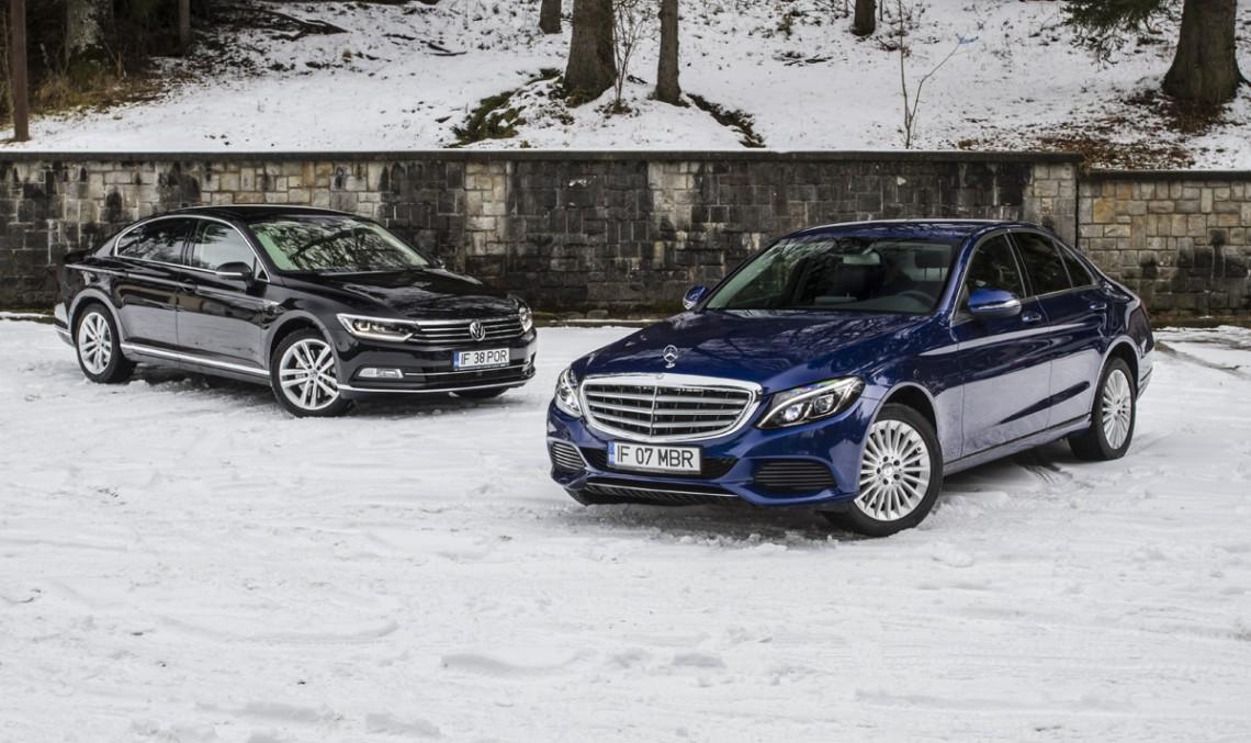 Volkswagen Passat 2.0 BiTDI 4MOTION vs. Mercedes-Benz C 250 BlueTEC