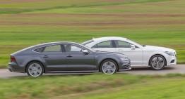 Bătălia monștrilor coupe: S7 Sportback vs. CLS 500 4MATIC