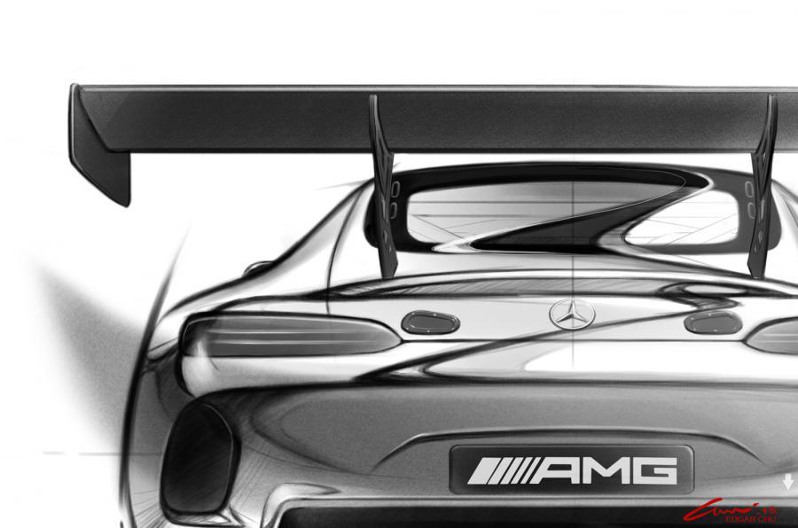Imagini teaser cu Mercedes AMG GT3, urmează versiunea de serie