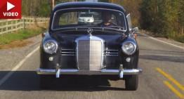 Test video cu un Mercedes-Benz 180D Ponton clasic din 1953