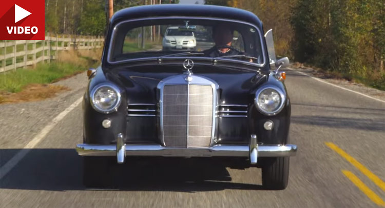 Test video cu un Mercedes-Benz 180D Ponton clasic din 1953