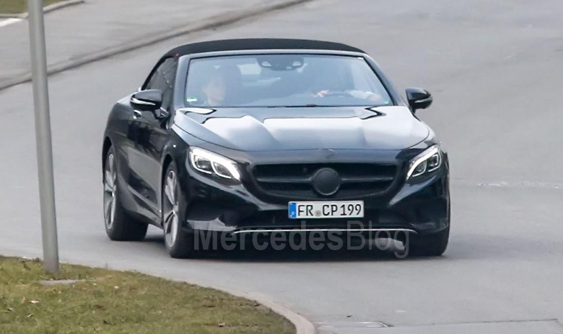 Imagini în premieră cu viitorul Mercedes-Benz S-Class Cabrio