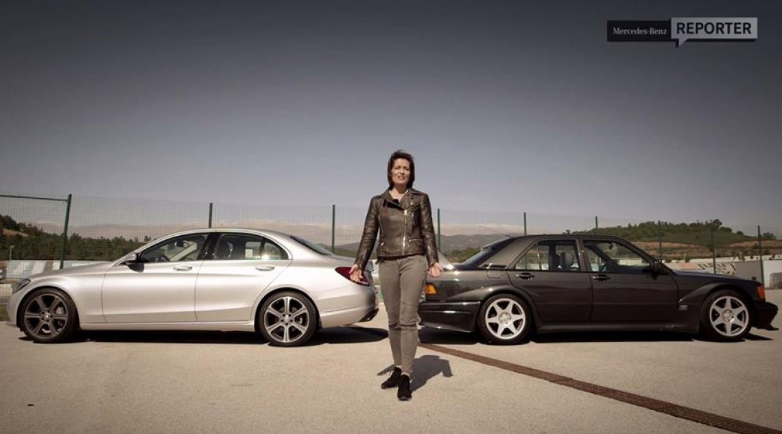 Două doamne, două mașini: 190 Evo II vs. noul C 350 e
