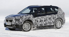 BMW X1 aproape fără camuflaj în cele mai recente fotografii spion