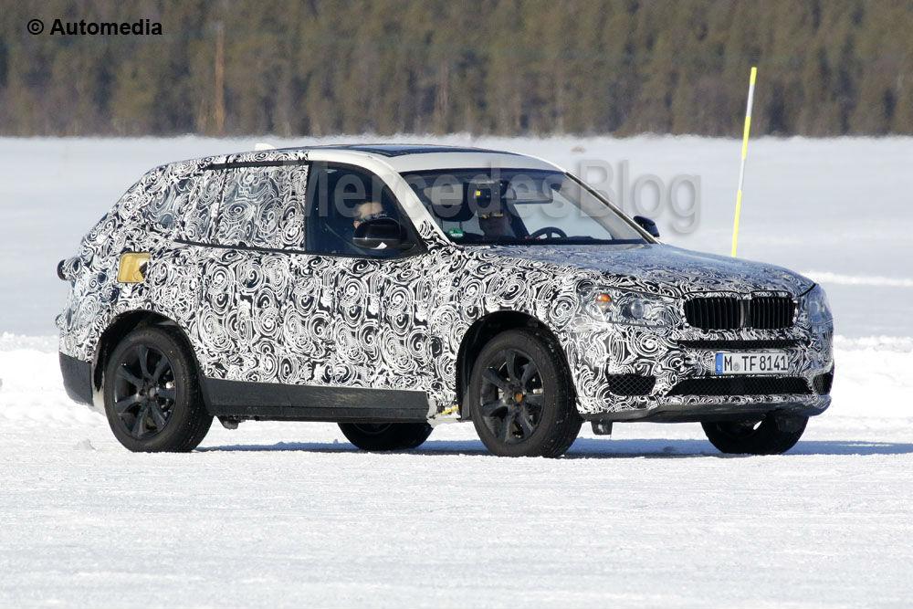 Primele fotografii spion cu BMW X3, rival pentru Mercedes GLC