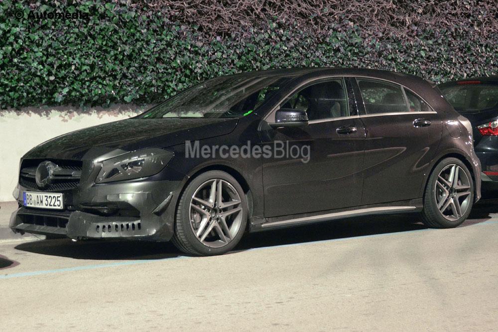 Mai multă putere pentru Mercedes-Benz A 45 AMG facelift – primele fotografii spion