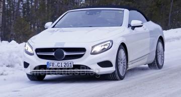 Cele mai recente poze spion ale noului Mercedes-Benz Clasa S Cabrio