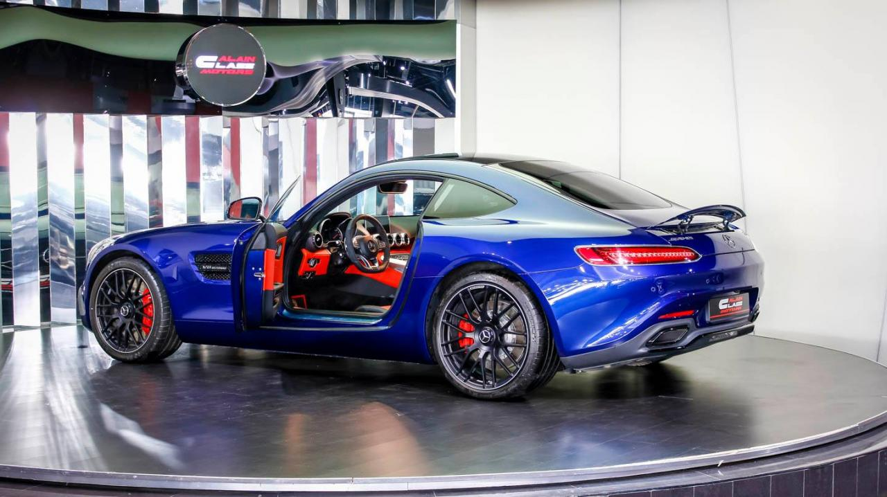 Blue Mercedes-AMG GT S 7