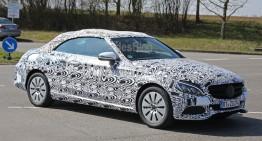 Mercedes C-Class Cabrio, dezvăluit – imagini noi spion