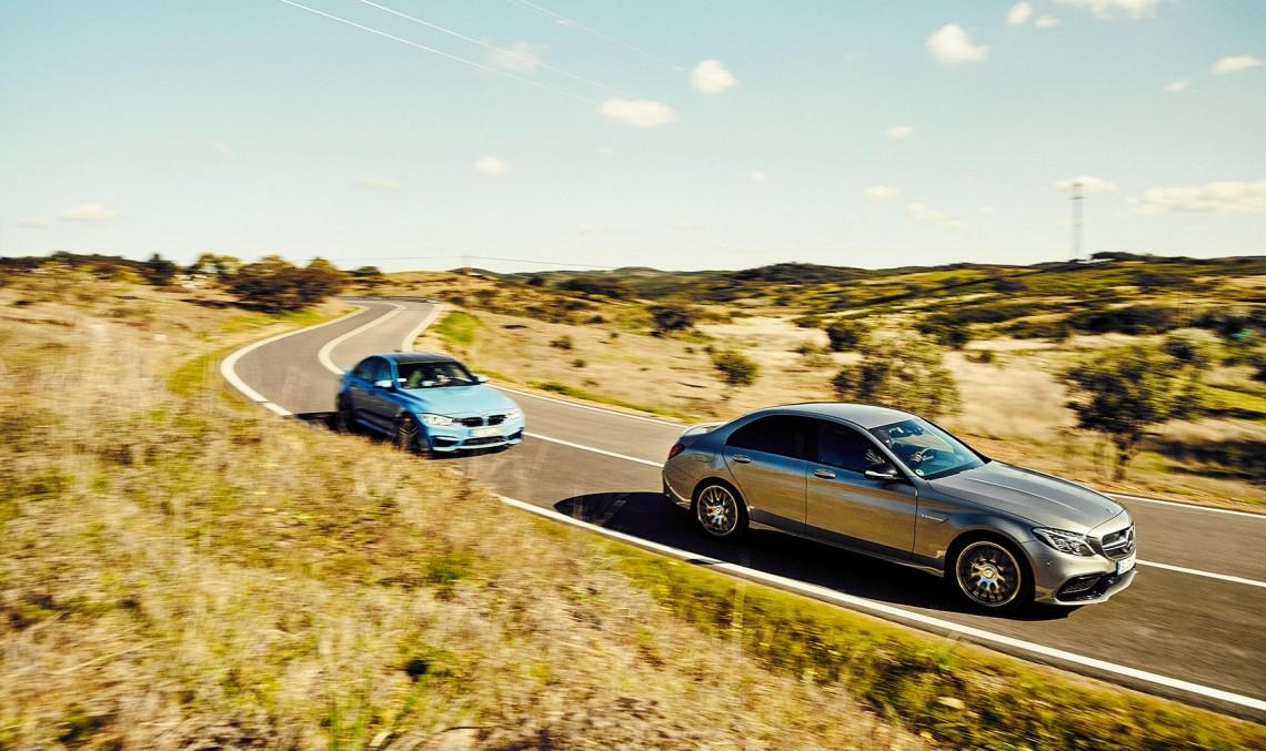 "BMW M3, ""strivit"" de atotputernicul Mercedes-AMG C 63"