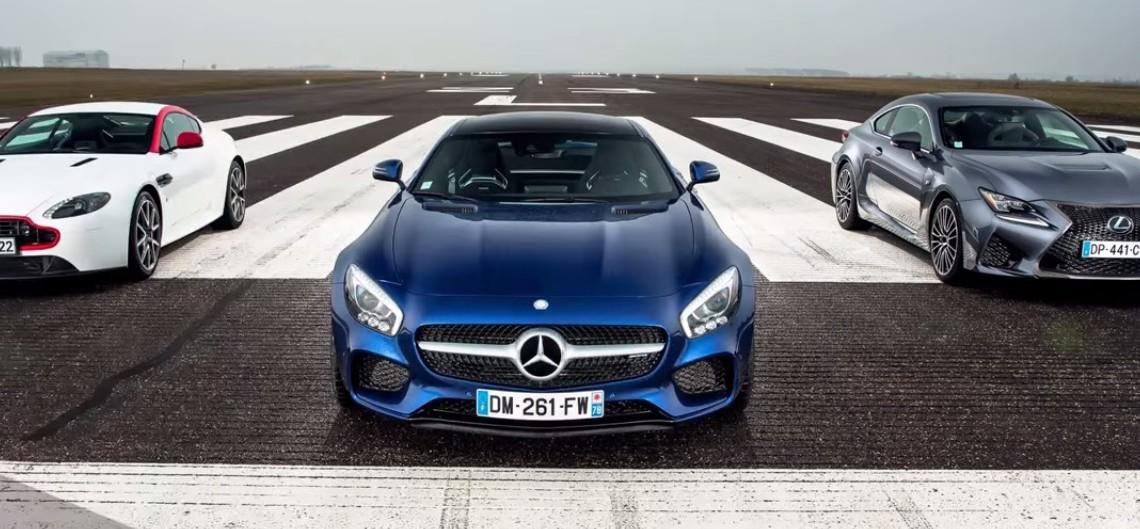 Bătălia decisivă: Mercedes-AMG GT S vs Aston Martin N430 vs Lexus RC F