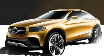 Mercedes-Benz GLC Coupe, dezvăluit. Primele schițe oficiale