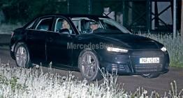 Noi fotografii spion cu Audi A4. Rivalul Clasei C practic descoperit
