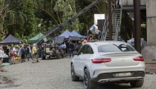 Das neue Mercedes-Benz GLE Coupé am Set von Jurassic World. // The all-new Mercedes-Benz GLE Coupé on location at the set of Jurassic World.