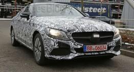 Mercedes-Benz C-Class Coupe face striptease – FOTO SPION