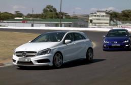 Războiul compactelor puternice: VW Golf 7R vs Mercedes A 45 AMG