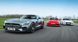 Mercedes-AMG GT S față în față cu 911 GTS și F-Type. Iar câștigătorul este…