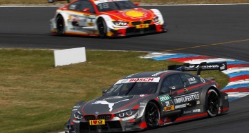 Lausitzring (DE) 31th May 2015. BMW Motorsport, Tom Blomqvist (GB) BMW M4 DTM and Augusto Farfus (BR) Shell BMW M4 DTM. This image is copyright free for editorial use © BMW AG (05/2015).