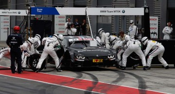 Lausitzring (DE) 31th May 2015. BMW Motorsport, Race 04, Bruno Spengler (CA) BMW Bank M4 DTM, Pit Stop BMW Team MTEK. This image is copyright free for editorial use © BMW AG (05/2015).