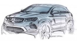 O schiță oficială a noului SUV Mercedes-Benz GLC lansată înaintea prezentării oficiale de miercuri