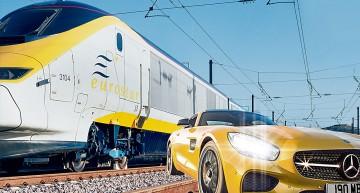 Bombardier vs glonț: Mercedes-AMG GT S se ia la întrecere cu trenul Eurostar