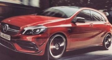 PREMIERĂ MONDIALĂ. Mercedes-Benz A 45 AMG facelift demascat